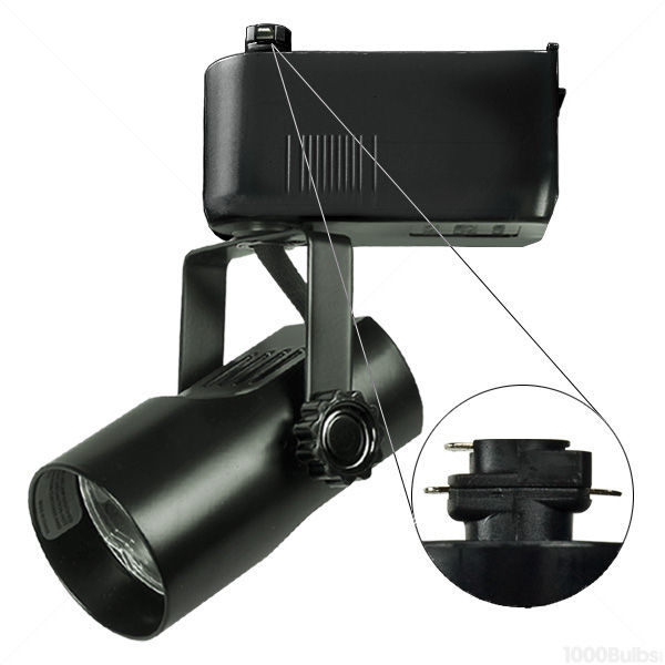 Nora NTL-215/75B - Telescope Low Voltage Track Fixture - Black Image