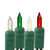 25 ft. Stringer - (50) Mini Lights - FROSTED WHITE, RED, GREEN