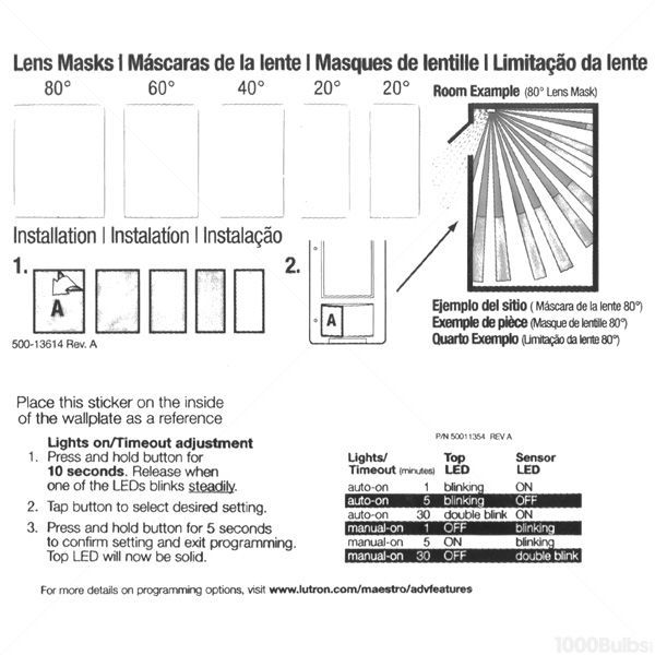 lutron maestro ms-op153m-la - light almond - passive infrared (pir)