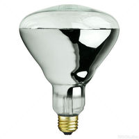 125 Watt - R40 - IR Heat Lamp - Clear - 5,000 Life Hours - 120 Volt