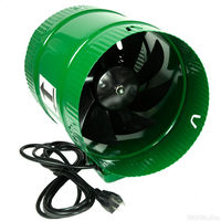 In-Line Booster Fan - 8 in. - 471 CFM - 54 Watts - 120 Volts - 0.5 Amps - Includes 8 ft. Power Cord - Active Air ACFB8