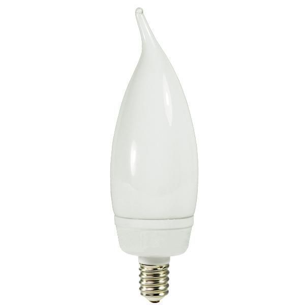 Flame Tip CCFL - 8 Watt - 40W Equal - 2400K Incandescent Warm White Image
