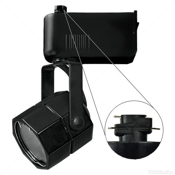 Nora NTL-201/75B - Studio Octagon Low Voltage Track Fixture - Black Image