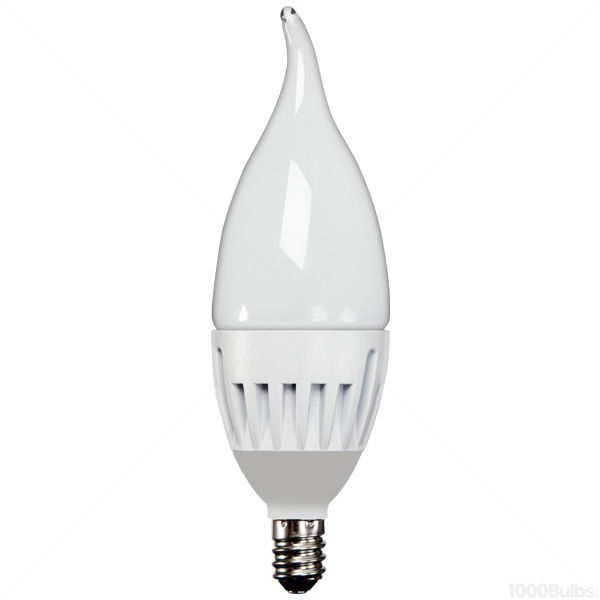LED - 6 Watt - Frosted Bent Tip Torpedo - 45 Watt Equal Image