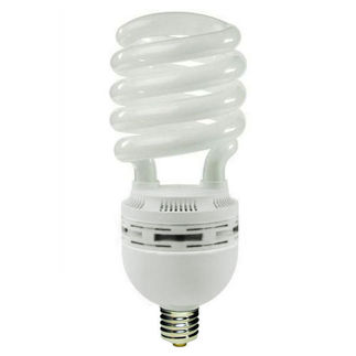 105 Watt - CFL - 500 W Equal - 5000K Full Spectrum - Min. Start Temp. 0 Deg. F - 80 CRI - 68 Lumens per Watt - 15 Month Warranty - Global Consumer Products 0170