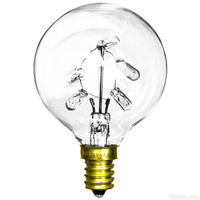 5 Watt - G16 Globe - 5 Internal Mini bulbs - 20,000 Life Hours - 10 Lumens - Candelabra Base - 130 Volts