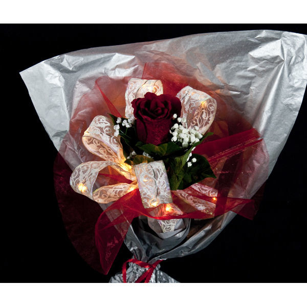 6 ft. Lighted Length - 1.5 in. Width - WHITE Ribbon Image