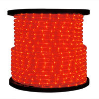 3/8 in. - Incandescent - Red - Rope Light - 2 Wire - 120 Volt - 150 ft. Spool - Red Tubing with Warm White Bulbs - Signature 10MM-RE-150