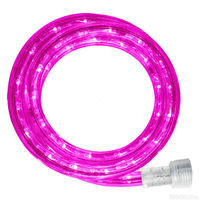 Incandescent - 12 ft. - Rope Light - Pink - 120 Volt - Includes Easy Installation Kit - Pink Tubing with Warm White Bulbs - Signature 13MM-PI-12KIT