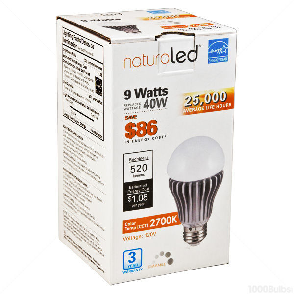 LED - A19 - 9 Watt - 40W Incandescent Equal Image