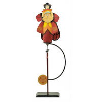 Madame Butterfly Sky Hook - Metal Balance Toy - Features Hand-Painted Woman on Recycled Metal Stand - Authentic Models TM124