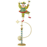 Jester Sky Hook - Metal Balance Toy - Features Hand-Painted Court Jester on Recycled Metal Stand - Authentic Models TM115