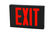 LED Exit Sign - Black Aluminum - Red Letter