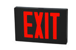 LED Exit Sign - Black Aluminum - Red Letter Image