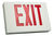 LED Exit Sign - White Aluminum - Red Letters
