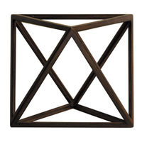 Octahedron - Architectural 8 Triangle Platonic Figure - Features Solid Wood in Honey Finish - Authentic Models AR036