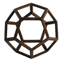 Dodecahedron - Architectural 12 Pentagon Platonic Figure - Features Solid Wood in Honey Finish - Authentic Models AR038