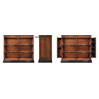 Alchemist's Bookcase - Features Solid Wood Construction in Honey and Black Finish - Includes (2) Hidden Side Panels - Authentic Models MF116