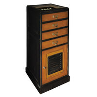 Caddie Cabinet - Golf Display Case - Features Solid Wood Construction With Glass Display Panel with Brass Accents - Authentic Models MF120