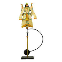 Aida Sky Hook - Metal Balance Toy - Features Hand-Painted Woman on Recycled Metal Stand - Authentic Models TM123