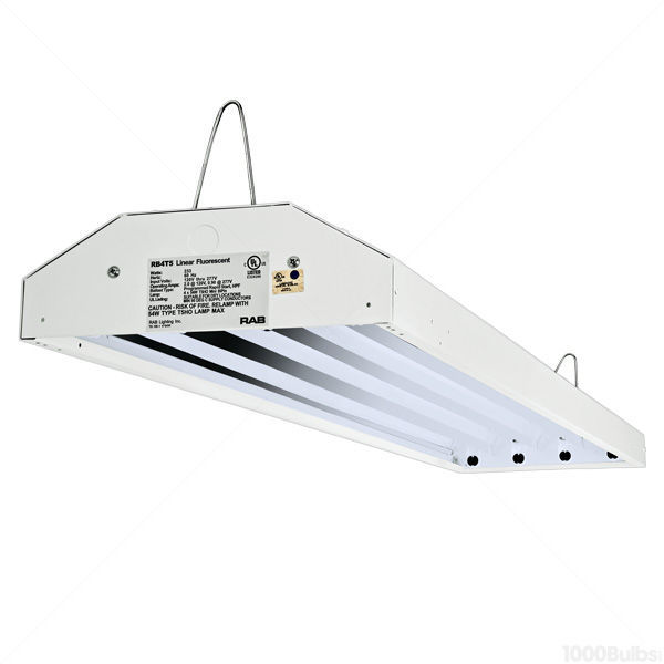 4 Lamp - F54T5/HO - 4 ft. - Damp Location Fluorescent High Bay Image