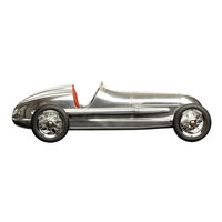 12.25 in. Length - Silberpfeil - 1930s Indy Racer Replica - Silver with Red Seat - Authentic Models PC014R
