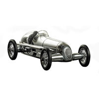 12.25 in. Length - Silberpfeil - 1930s Indy Racer Replica - Silver - Authentic Models PC014
