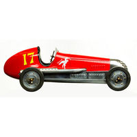 20.75 in. Length - BB Korn - 1930s Racer Replica - Red - Authentic Models PC013R