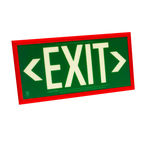 Double Face - Photoluminescent Exit Sign - Green Image