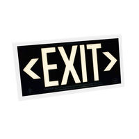 Single Face - Photoluminescent Exit Sign - Black - White Frame - 50 ft. Viewing Distance - 25 Year Effective Life - Includes Polycarbonate Face Panel - Fulham FLPL51-S-B-W