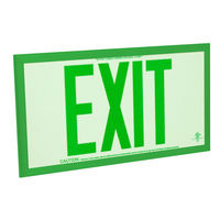 Double Face - Photoluminescent Exit Sign - Green Letters - Green frame - 75 ft. Viewing Distance - Fulham FLPL75-D-G-G