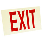 Single Face - Photoluminescent Exit Sign - Red Letter Image