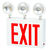 FireHorse NYC Combo Exit Sign - 3 Adjustable Lamp Heads