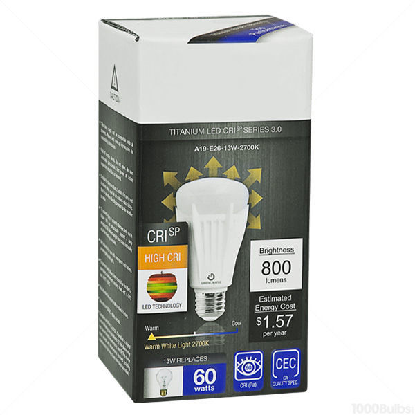 LED - A19 - 13 Watt - 60W Incandescent Equal Image