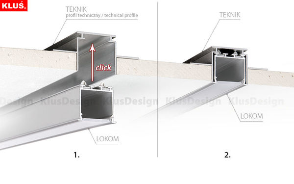 3.28 ft. Anodized Aluminum LOKOM Drywall Channel Image
