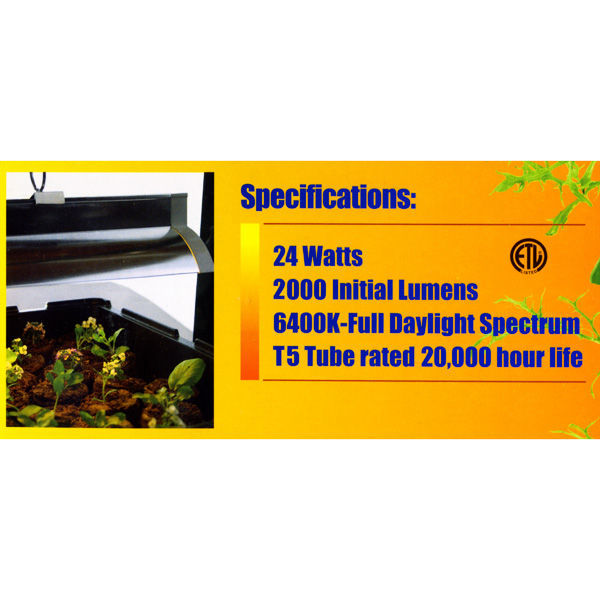 2 ft. - Jump Start JST52 - T5 Fluorescent Fixture with Reflector Image