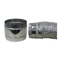10 in. - Duct Coupler - Galvanized Steel - Pre-Crimped - Ideal-Air 736422