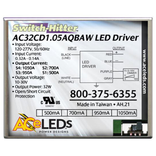LED Driver - Operates 15-32 Watts - 10-30V Output Image
