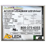 LED Driver - Dimmable - 15-32 Watts - 15-32W - 500-1050 Output Current Image