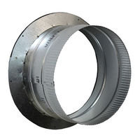 10 in. - Air Tight Duct Collar - Galvanized Steel - Pre-Crimped - Ideal-Air 736462