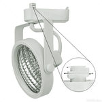 Nora NTL-220W - Gimbal Ring Low Voltage Track Fixture - White Image