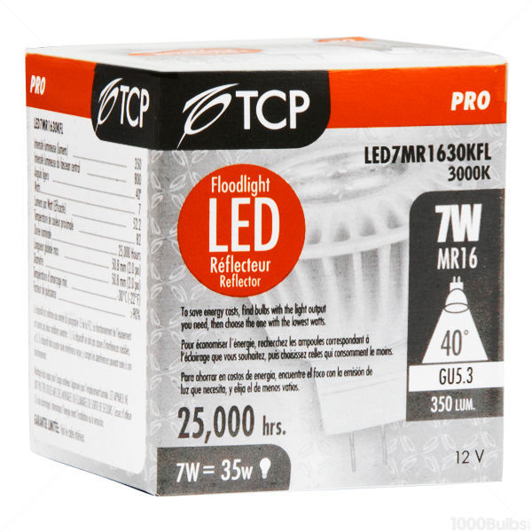TCP LED7MR1630KFL - 7 Watt - LED - MR16 - 35 Watt Equal Image