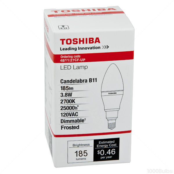LED - 3.8 Watt - Frosted Straight Tip Torpedo - 25 Watt Equal Image