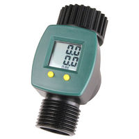 Water Meter - Measures Flow to 1/10th of a Gallon - Easy to Read LCD Display - Rugged Waterproof Housing - HydroFarm LGP0550