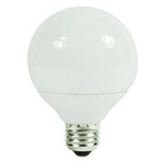 G25 CFL - 15 Watt - 60W Equal - 4100K Cool White Image