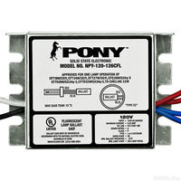 Fulham Pony NPY-120-126-CFL - (1) Lamp - 120 Volt - Rapid Start - 1.0 Ballast Factor