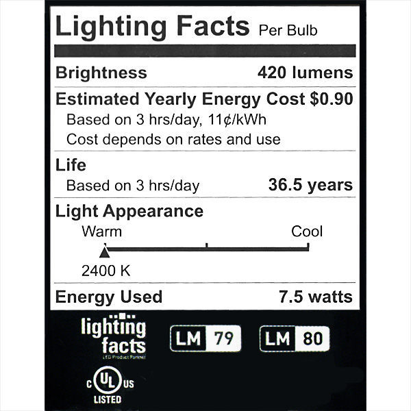Green Creative 40600 - Dimmable LED - 7.5 Watt - R20 Image