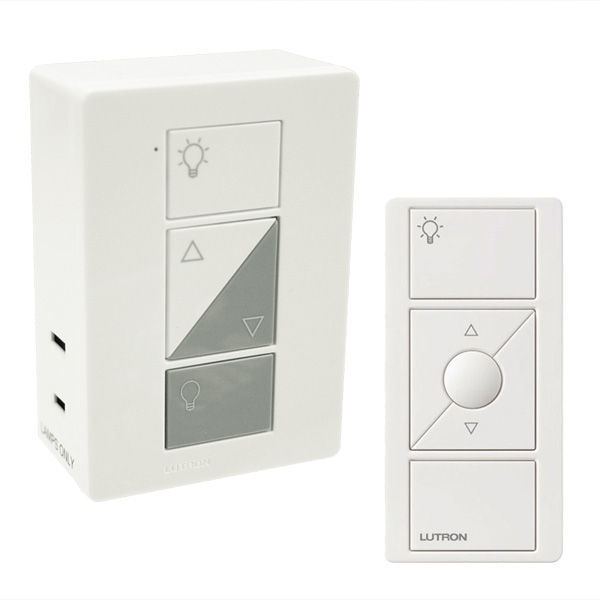 Lutron Caseta P-PKG1P-WH - Plug-In Dimmer and Pico Remote Image