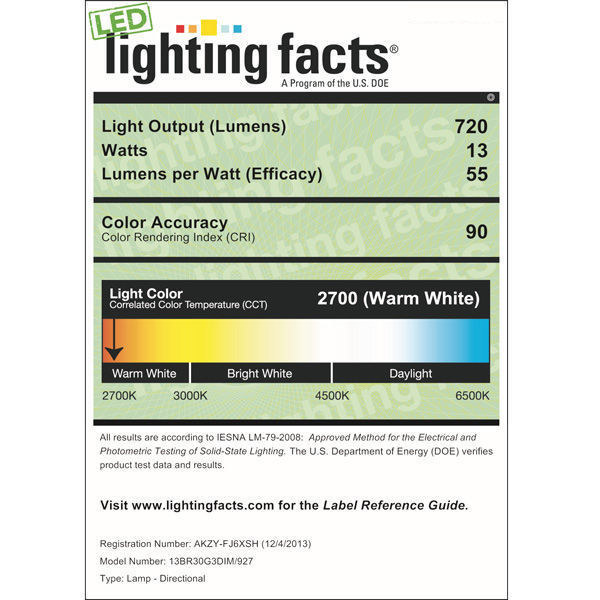 Dimmable LED - 13 Watt - BR30 Image