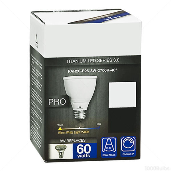 Green Creative 40615 - Dimmable LED - 8 Watt - PAR20 Image